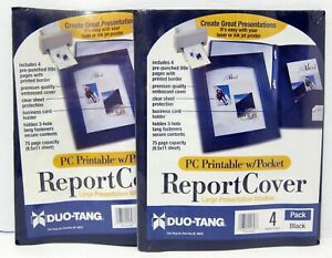 2 Packs Duo tang Report Covers Presentation Window 8 Total Covers
