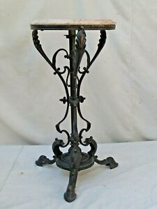 Antique Brass Ornate Small Table Or Stand