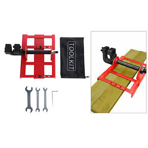Red Steel Vertical Chainsaw Mill Steel Wood Lumber Cutting Guide Woodworking