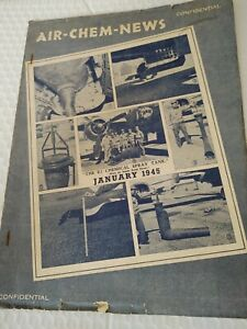 Wwii Confidential Booklet Jan 1945 Air chem news Chemical Warfare Info