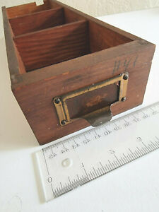 Antique Wooden 1 Drawer Spice Apothecary Primitive Vintage Today Sale