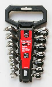 Craftsman 7pc Sae 12pt Stubby Ratcheting Wrenches Cmmt12076 New