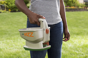 Hand Held Fertilizer Spreader Grass Seed Weed Control Battery Powered 2500 Sq Ft