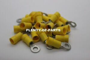 10 Ring Terminal 12awg 10awg Yellow Insulation 25pcs