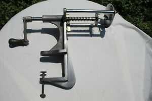 Vintage Spiral Fries Curly Cutter Manual Commercial Food Prep Clamps On Bench