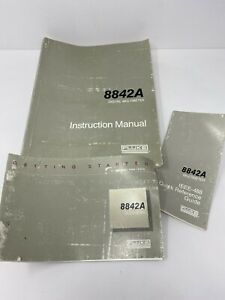 Fluke 8842a Instruction Manual W quick Reference Guide Used Free Shipping