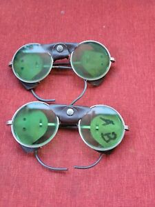 Vintage Aom Safety Glasses Welding Goggles Lot Of 2 Pre Owned Condition J1