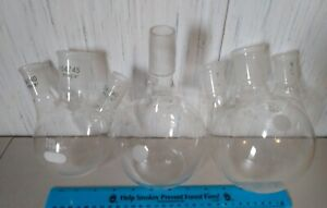 3 Items 3x Round Bottom Flasks 24 40 Ground Glass Joint 34 45 Large Joints