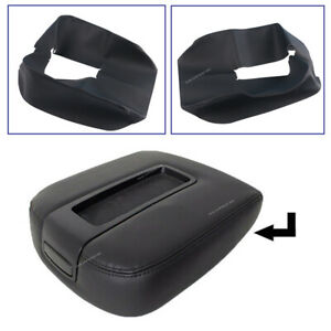 Armrest Center Console Leather Cover Fits Chevy Tahoe Suburban 07 13 Black