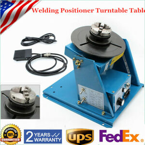 Rotary Welding Positioner Turntable Table Mini 2 5 3 Jaw Lathe Chuck 110v