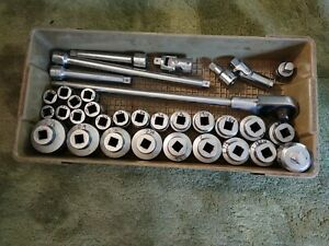 Snap On L72t Usa 3 4 Inch Drive Ratchet Head And Sockets 35 Piece Set