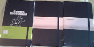 Lot Of 3 Moleskine Notebooks 5in X 8 25in Excellent Condition No Reserve