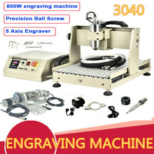 Usb 5 Axis Cnc 3040 Router Engraver Metal Engraving Carving Milling Machine Usa