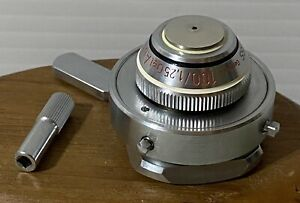 Zeiss 100 1 25 Oil Aufl Pol Microscope Objective In Centering Ring For Iic