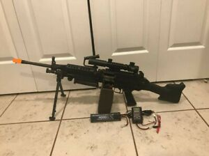 M249 SAW Airsoft AEG Rifle with Scope Battery and Charger $900.00