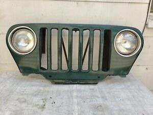 1998 2006 Jeep Wrangler Tj Grill Front Grille W Lights Wiring Dark Green