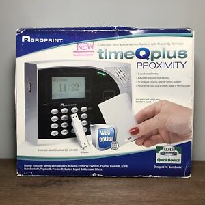 New Acroprint 01 0249 000 Timeqplus Proximity Time Clock Attendance System
