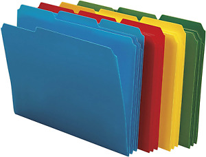 Smead Poly File Folder 1 3 cut Tab Letter Size Assorted Colors 24 Per Box 1