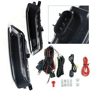 For 2014 2020 Chevy Impala 2pcs Led Fog Light Drl Driving Lamp Wiring Switch Kit
