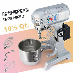 Commercial 10 Qt Dough Mixer With Mixing Bowl And 3 Attachments Kitchen Gadget