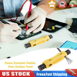 Multi function Coax Cable Wire Pen Cutter Stripper Tool For Rg59 Rg6 Rg7 Rg11