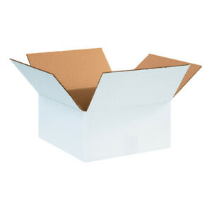 12 X 12 X 6 White Corrugated Boxes Ect 32 Shipping mailing Boxes pack Of 50