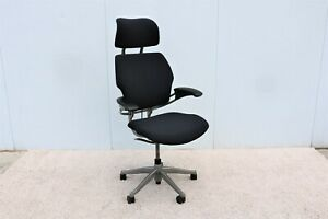 Humanscale Ergonomic Freedom Black Task Chair With Headrest Fully Adjustable