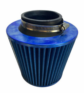 3 Blue Dry Type Filter High Flow Sport Cold Air Intake Cone 76mm Filter Only