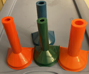 Set Of 4 Color coded Coin Counting Tubes Coin Wrapping For Pennies quarters