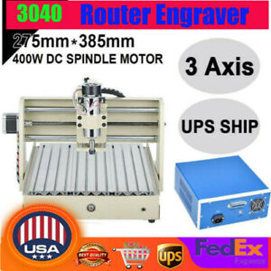 3 Axis Cnc 3040 Router Engraver Wood Engraving Drilling Milling Machine Cutter