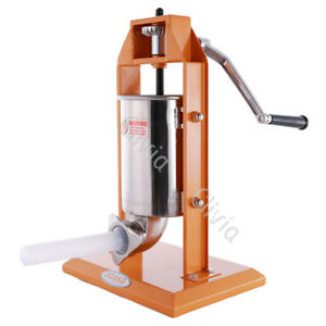 Clivia 7lbs Sausage Stuffer Vertical Stainless Steel 2 Speed 3l Meat Press