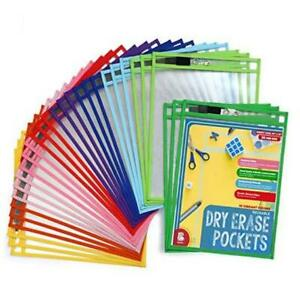 Dry Erase Pockets 30 Pack Easywipexl Heavy Duty Sheet Protectors Quickly