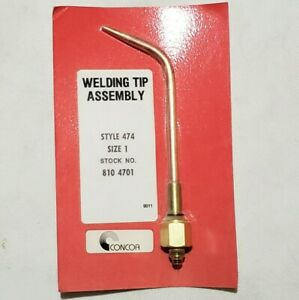Concoa Style 474 Size 1 Welding Brazing Torch Tip 810 4701 Airco