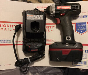 Craftsman C3 192 Cordless Impact Drill Driver 57271 Battery And Charger