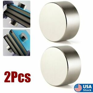 2pack N52 Large Neodymium Rare Earth Magnet Big Super Strong Huge Size 40mm 20mm