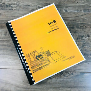 Fiat allis Chalmers 16 b Crawler Tractor Parts Manual Catalog Book S n 19s10301