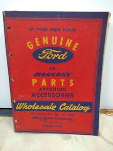1938 1946 Ford Mercury Master Chassis Parts Book Manual Old Original