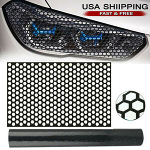 Car Rear Tail Light Cover Black Honeycomb Sticker Tail Lamp Decal Accessories