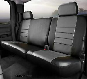 2007 2012 Jeep Wrangler Factory Fit Custom Leather Rear Seat Covers Gray Black