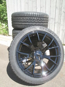 20 New Factory Style Dodge Charger Srt Hellcat Gloss Black 4 Wheels Rims Tires Fits Dodge