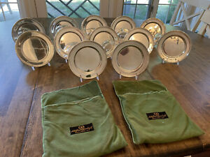 Set 12 International Silver Sterling Silver Bread And Butter Plates