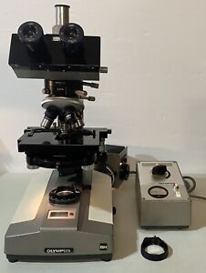 Olympus Bh Interference phase Contrast Sw Trinocular Microscope