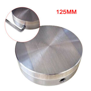 Round Permanent Magnetic Chuck Diameter 125mm 5 Fine Pole Table New