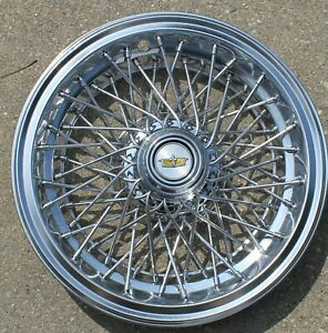 One Oem 1986 1996 Chevrolet Caprice Classic Spoke Wire 15 Hubcap 10201261