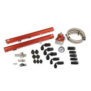Aeromotive 14102 Fuel Rail Billet Aluminum Red Anodized For 1986 95 Ford Mustang