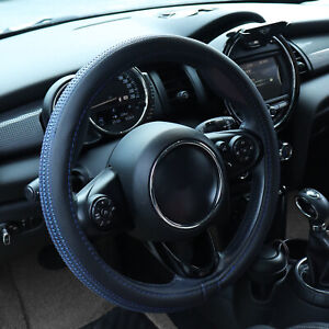 Blue Car Steering Wheel Cover Pu Leather For Auto Car Accessories 15 Universal