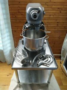 Used Hobart 20 Qt Mixer Hl200 With Paddle Whip Spiral Dough Hook And Table
