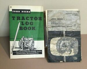 Zz John Deere Traction trol Hitch 801 Manual Om a12755a Tractor Log Book 872