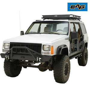 Eag Rock Crawler Xj Front Rear Bumper Combo Replacement Fits 84 01 Jeep Cherokee
