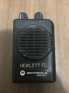 Motorola Minitor V 5 Low Band Pagers 46 100 46 200 Mhz Stored Voice 2 channel